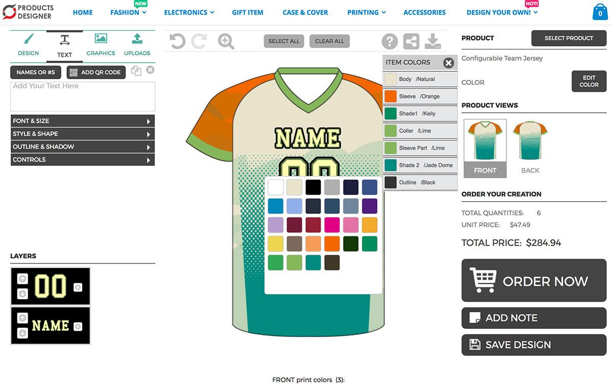 Product Customization Software For Print Shop Shopify Tshirt - T shirt design template software