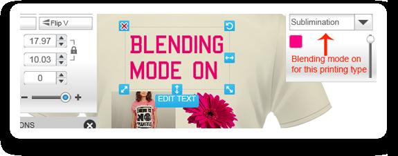 Design Blending Mode for Direct To Garment Printing