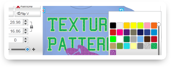 Use Texture Pattern as Printing Color