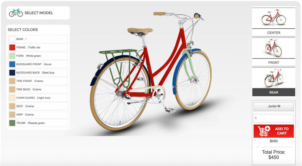 Bike configurator tool