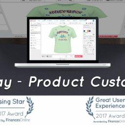 Inkybay product customizer wins ecommerce award