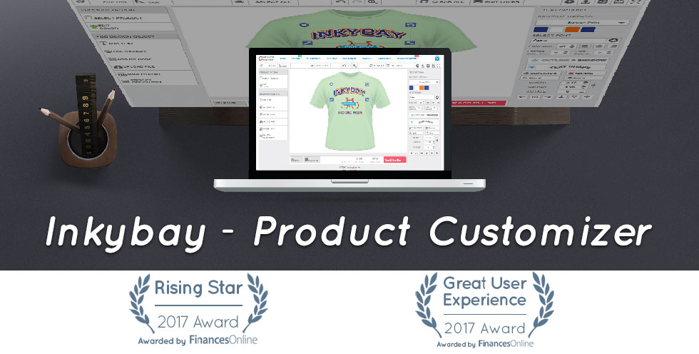 Inkybay product customizer wins ecommerce award