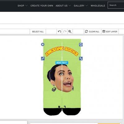 Socks customization software for Shopify