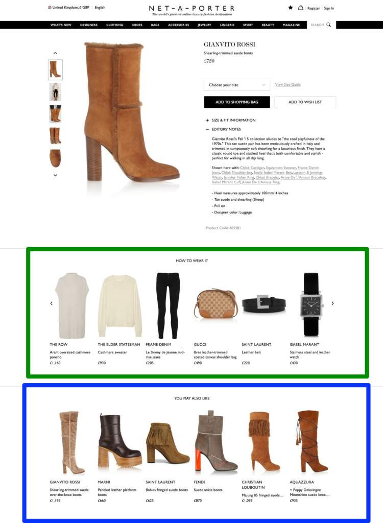 E-commerce personalization Marketing Upsell Cross-Sell Example
