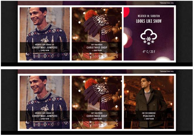 burton weather ad campaign Segmentation Ecommerce