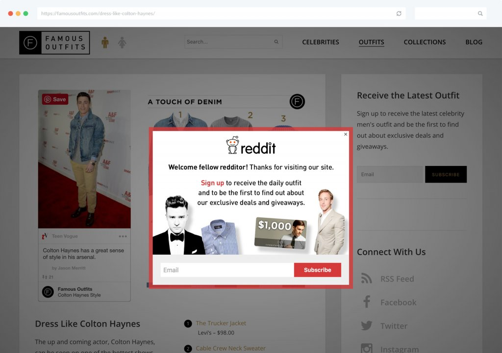 Traffic Source E-commerce Segmentation Famous Outfits Example